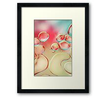Oil Drops with Blush Pink Framed Print