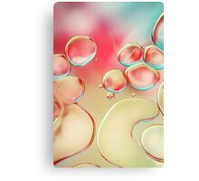 Oil Drops with Blush Pink Canvas Print