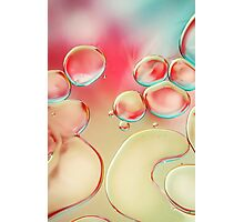 Oil Drops with Blush Pink Photographic Print