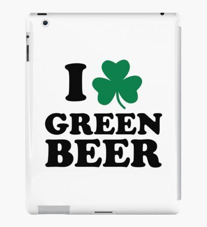 I love green beer shamrock iPad Case/Skin