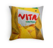 Vita Mango Drink, Crushed Throw Pillow