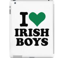 I love irish boys heart iPad Case/Skin