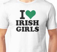 I love irish girls heart Unisex T-Shirt