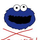 COOKIE MONSTER TEE SHIRT (WHITE TEXT) by mjfouldes