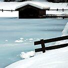 Blue ice by Arie Koene
