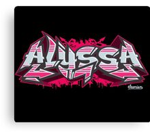Alyssa Hip-Hop Graffiti Burner Canvas Print