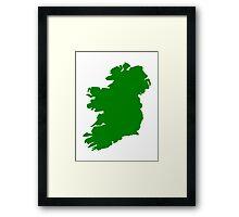 Ireland map Framed Print