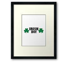 Irish shamrock boy Framed Print