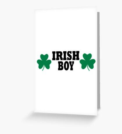 Irish shamrock boy Greeting Card