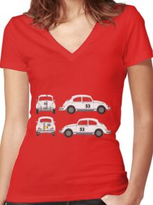 Just Herbie Women's Fitted V-Neck T-Shirt
