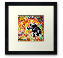 Space is right here!! All over the place COLORS Framed Print