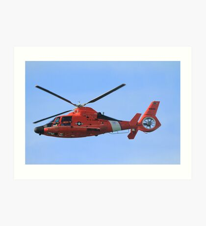 Hawaii Coast Guard Helicopter Art Print