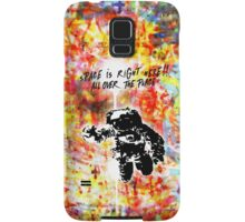 Space is right here!! All over the place COLORS Samsung Galaxy Case/Skin