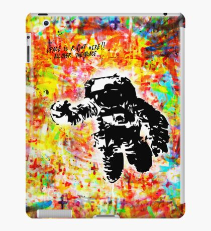 Space is right here!! All over the place COLORS iPad Case/Skin