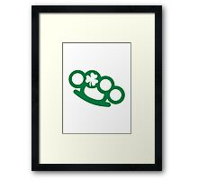 Irish brass knuckles shamrock Framed Print
