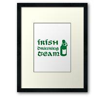 Irish drinking team beer Framed Print