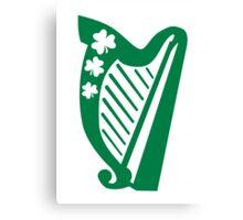 Irish shamrock harp Canvas Print