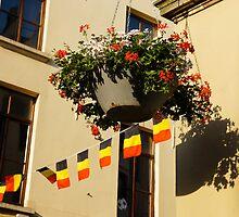 Brussels, Belgium - Flowers, Flags, Football by Georgia Mizuleva