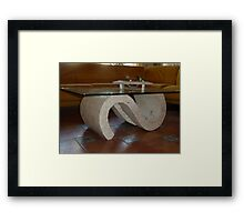 Saloon Table. Framed Print
