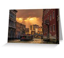 Leaving Venice Greeting Card