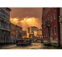 Leaving Venice Photographic Print