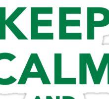 Keep calm and love Leprechauns  Sticker