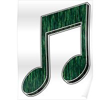 Music Note (Green) Poster