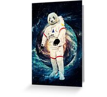 Astro Panda Greeting Card