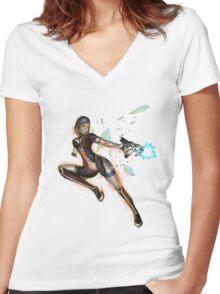 Mass Effect - EDI Women's Fitted V-Neck T-Shirt