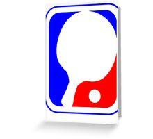 Ping Pong League Logo Greeting Card