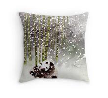 Pandas In The Snow Throw Pillow