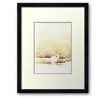 Arctic Fox in the Snow Framed Print
