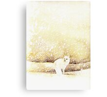 Arctic Fox in the Snow Canvas Print