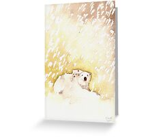 Polar Bear and Cub in the Snow Greeting Card