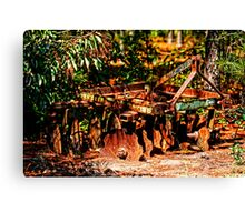 rusty camouflage Canvas Print