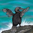 Flightless Cormorant of Galapagos by Carl Conway