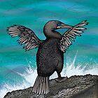Flightless Cormorant of Galapagos by Carl Conway