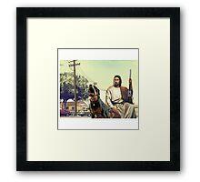 gta 5 jesus Framed Print