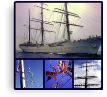 America's tall ship, The Eagle (collage) Canvas Print