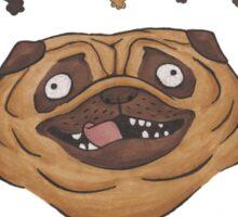 Wheel of Pugs Sticker