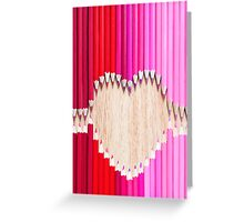 pencil love Greeting Card