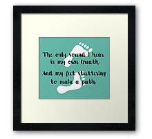 Rattlesnake Lyrics Highlight Framed Print