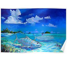 Tropical Bonefish Seascape - A Place I'd Rather Be Poster