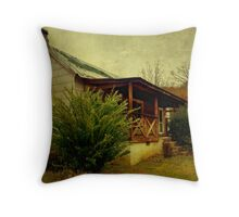 Back at the homestead Throw Pillow