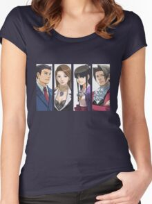 Ace Attorney Panels Women's Fitted Scoop T-Shirt