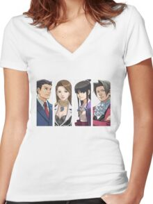 Ace Attorney Panels Women's Fitted V-Neck T-Shirt