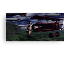 Sky Captain and the Infamous Red Fokker Canvas Print