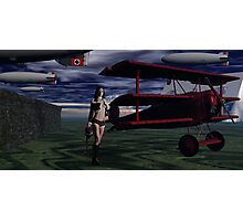 Sky Captain and the Infamous Red Fokker Photographic Print