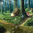 Totoro and Mei by Roberto Nieto
