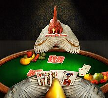 Chicken - Playing chicken by Mike  Savad